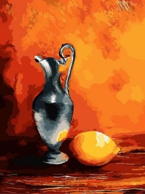 Pictură pe numere 30x40cm - Jug with lemon ME1058e