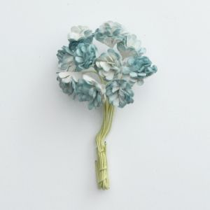 Flori hartie 10 buc - Antique blue gypsophila GST-234
