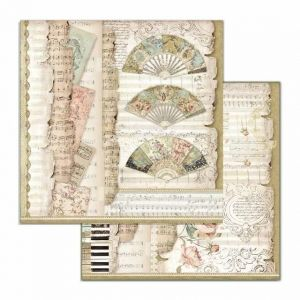 Hartie scrapbooking 30.5x30.5cm - Fans and music SBB714