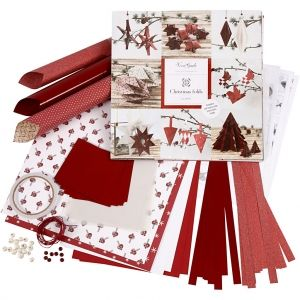 Set de decorare Weaving and Folding Christmas alb roșu 1buc - C97777