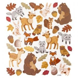 Stickere cu glitter 38buc. - Forest Animals DPNK-110