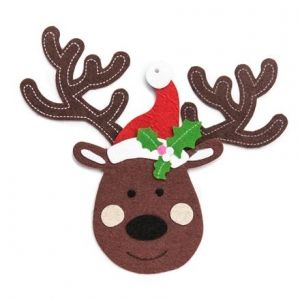 Kit creativ din fetru - Felt Reindeer Hanger Craft Kit Makes 3 KSFI-131