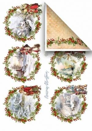 Set cartoane scrapbooking A4 5 coli -  Merry Christmas ITD-SCRAP-021