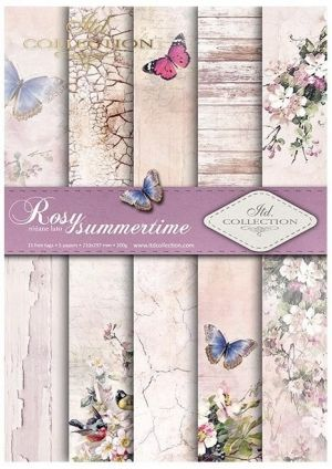 Set cartoane scrapbooking A4 5 coli - Rosy summertime ITD-SCRAP-045