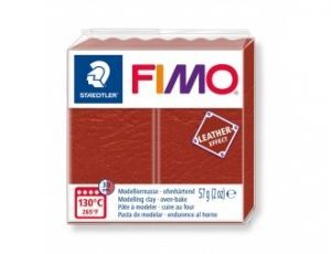 Pasta polimerica FIMO Leather 57g -roșu - G8010749