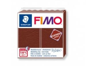 Pasta polimerica FIMO Leather 57g - maro - G8010779