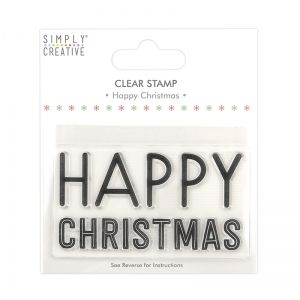 Stampila Silicon -Happy Christmas SCSTP038X20