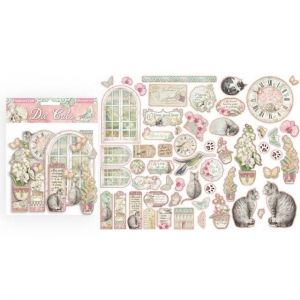 Elemente de decorare Chipboard 15x30 cm - Orchids and Cats DFLDC26