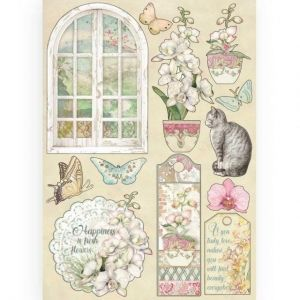 Elemente de decorare Chipboard A5, 14.8x21 cm - Window KLSP087