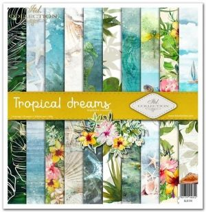 Set cartoane scrapbooking 31х32cm - Tropical dreams ITD-SLS-010