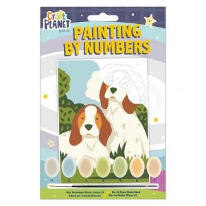 Mini Pictură pe numere - Craft Planet - Dogs CPT-658700