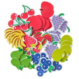 Stickere din foam 45 buc. - Fruits  KSPI-422