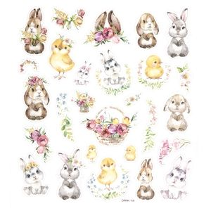 Stickere cu glitter 27buc. - Bunnies and chiks DPNK-119