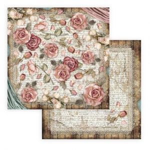 Hartie scrapbooking 30.5x30.5cm - Passion roses and laces SBB771
