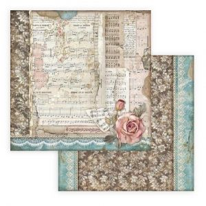 Hartie scrapbooking 30.5x30.5cm - Passion roses and music SBB770