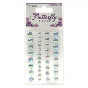 Elemente de decorare - Butterfly Kisses Glitter Gems, DCDOT055