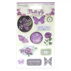 Stickere 12 buc - Butterfly Kisses  DCSTK098