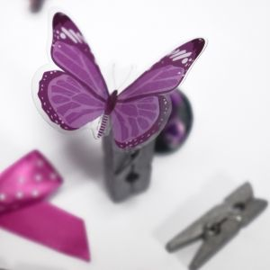 Elemente de decorare 8 buc. - Butterfly Kisses Toppers  DCTOP176